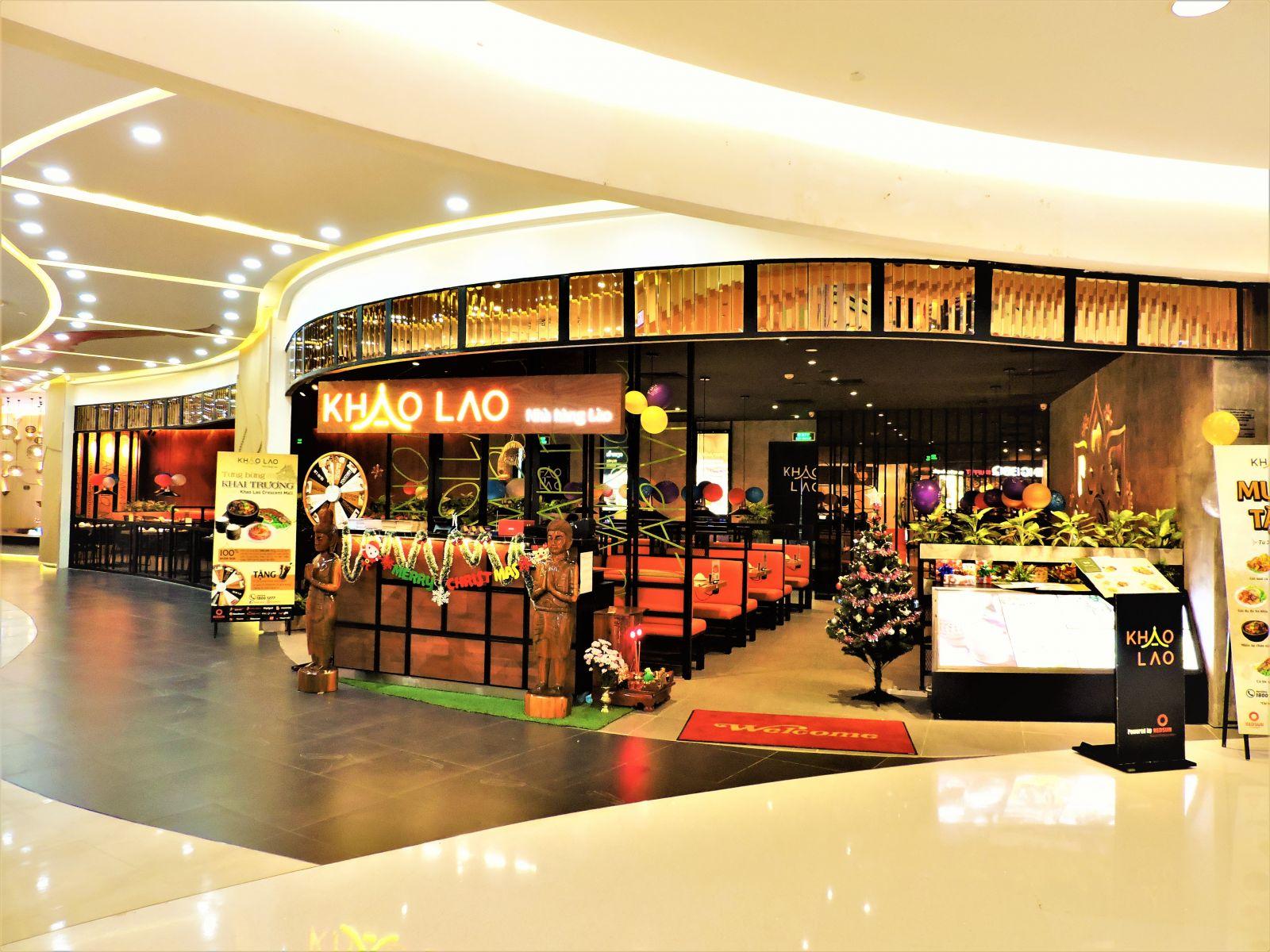 Công trình nhà hàng Khao Lao - Cresent Mall quận 7
