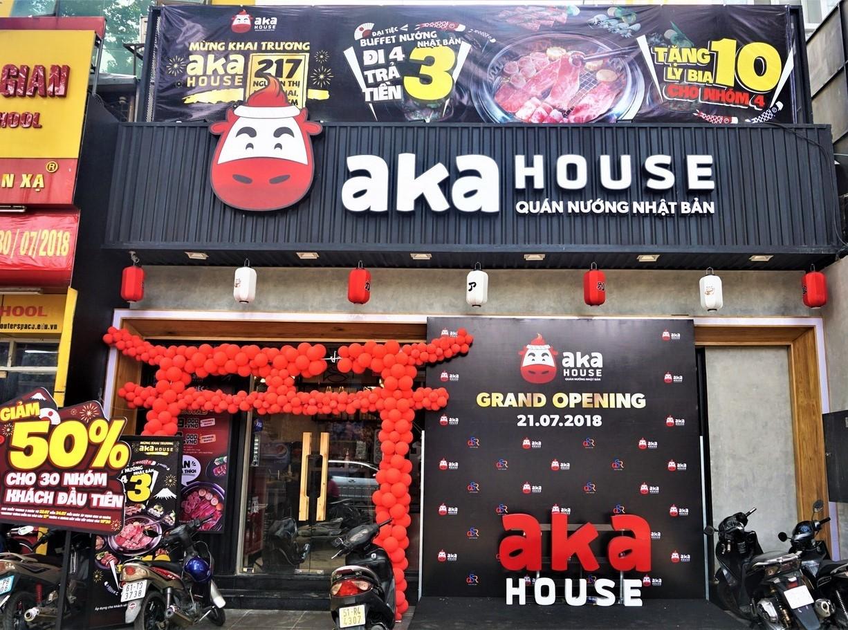 Công trình nhà hàng Aka House - Nguyễn Thị Minh Khai