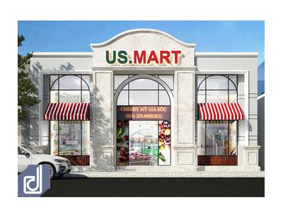 Công trình siêu thị hàng ngoại nhập US.Mart - Trần Hưng Đạo
