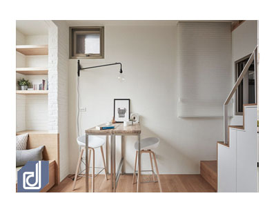 22m² apartment but super convenient with multi-functional furniture