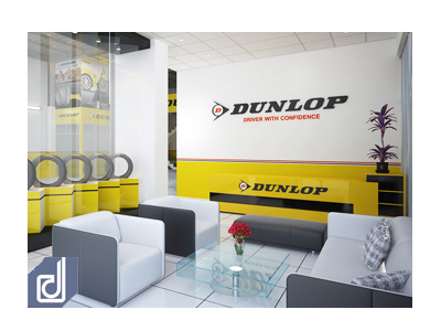 Office Interior design for Dunlop Corporation
