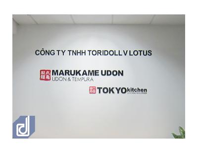Thiết kế và thi công nội thất văn phòng Công ty Toridoll Vlotus