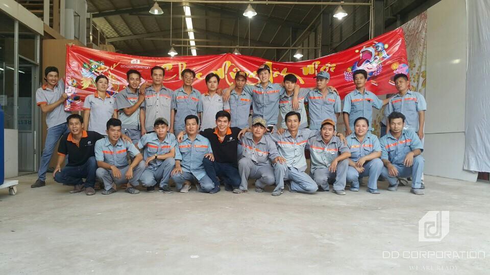 giới thiệu xưởng sản xuất DD Corporation