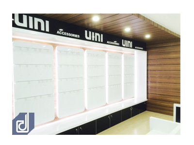 Interior design and construction for UIMI Smartphone store - phrase 2