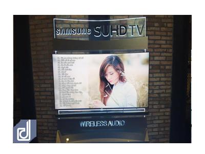 Thiết kế & Thi công Standee Samsung curved và Sound bar wireless tại CGV Vincom Nguyễn Chí Thanh - Hà Nội