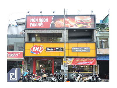 Công trình nhà hàng Dairy Queen Grill & Chill Quang Trung