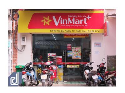 Interior design and construction project of VinMart+ Bui Van Ba convenience store
