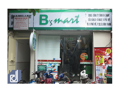 Thi công nội thất cửa hàng tiện lợi B's Mart Phú Mỹ