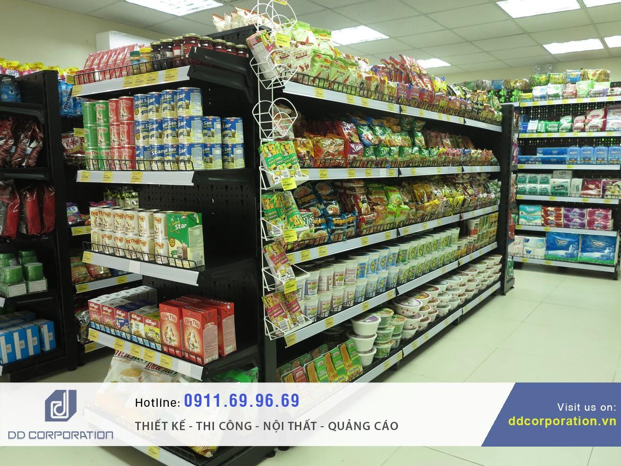 nội thất siêu thị mini