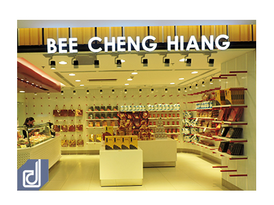 Interior Desiging - Constructing for Bee Cheng Hiang Store at Saigon Center