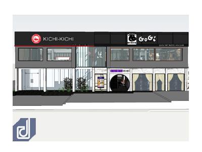 Dự án Thiết kế: Cụm nhà hàng Gogi House - Kichi Kichi - Crystal Jade Bình Dương