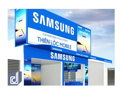 Công trình Thiết kế - Thi công cửa hàng điện thoại di động Thiên Lộc