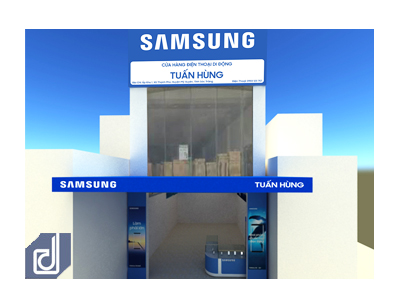 Công trình Thiết kế - Thi công cửa hàng điện thoại di động Tuấn Hùng