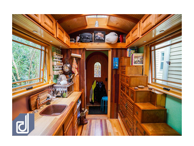 10 Tấm ảnh trang trí nội thất đẹp của ngôi nhà khép kín vỏn vẹn 16m2