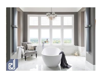 9 cách để thiết kế phòng tắm của bạn với tông màu xám
